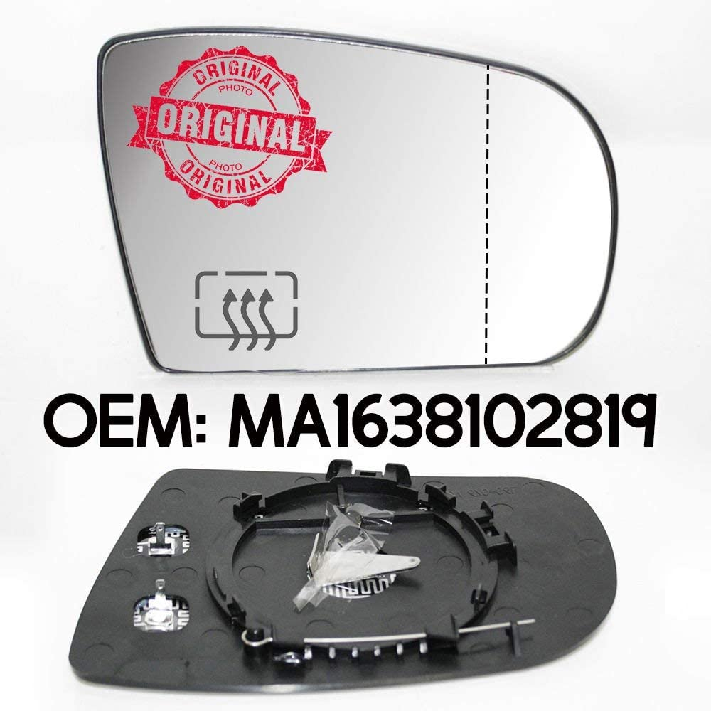 Right Side Wing Mirror Glass Heated Compatible With M-Class W163 1998-2005 OEM MA1638102819