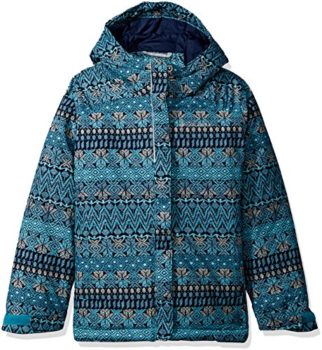 Columbia Little Girls' Horizon Ride Jacket, Pacific Rim Nordic Stripe, X-Small