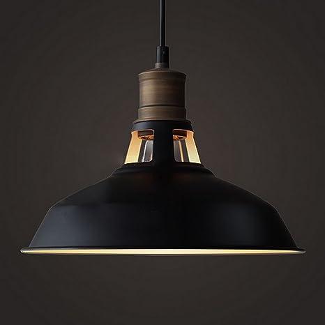 CLAXY Metal Vintage E27 Lámpara Colgante Rústica Lámpara de Techo Retro Iluminación Pendiente Industrial Edison