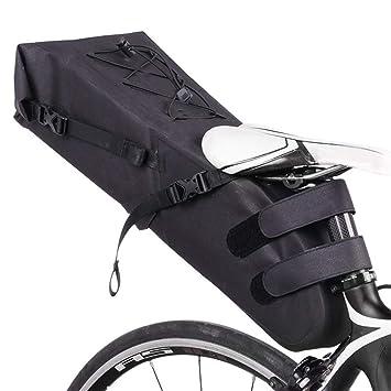 Melodycp Bolsa de sillín Frontal de Bicicleta Impermeable ...