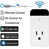 Smart Plug Echo Alexa IR Control Air Conditioner,Horsky Wireless Wifi Outlet Switch Socket Works with Echo and Google Assistant,IR Remote Controlling Air Conditioner from Anywhere Via Free App