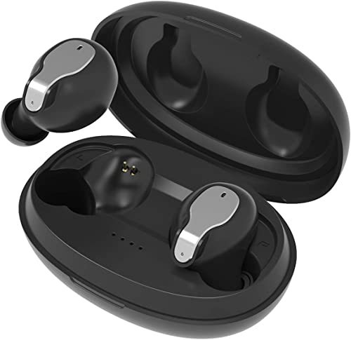 Bluetooth 5.0 Wireless Earbuds Noise Canceling Sports 3D Stereo Headphones with 24Hr Playtime IPX5 Waterproof, Pop-ups Auto Pairing, Built-in Binaural Mic Headset for All Smartphones PC Laptop
