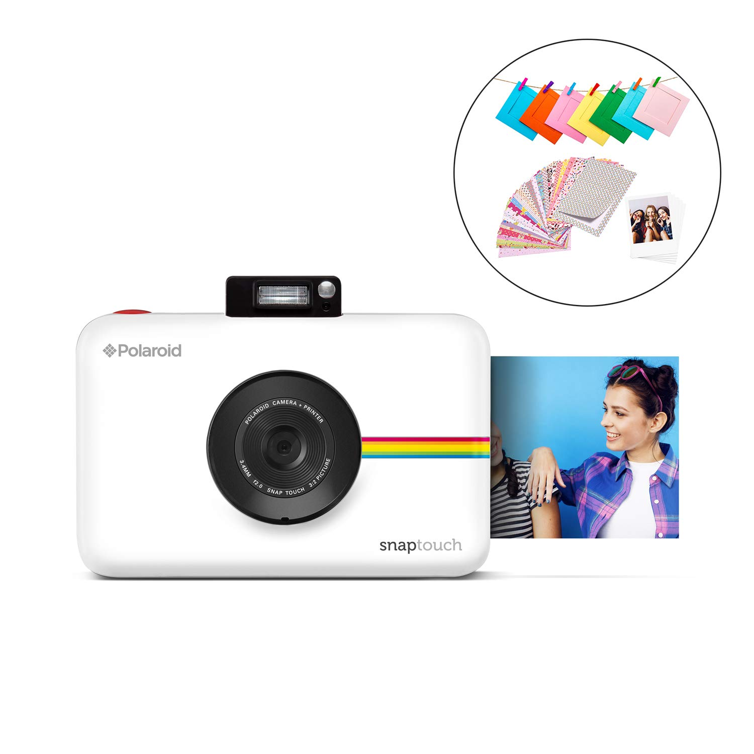 Polaroid SNAP Touch 2.0 - 13MP Portable Instant Print Digital Photo Camera w/Built-In Touchscreen Display, White by Polaroid
