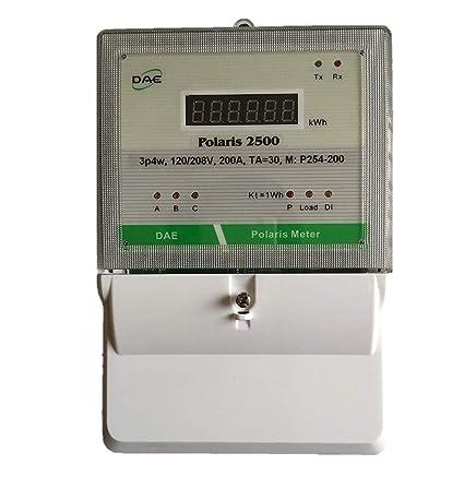 614zSffuJ8L._SX425_ dae polaris universal kwh meter, ul, 120 208v, 3p4w(3 hot wire, 1