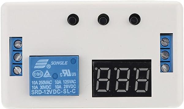 KKmoon 12V LED automatización temporizador Control interruptor relé módulo de retardo con caja: Amazon.es: Bricolaje y herramientas