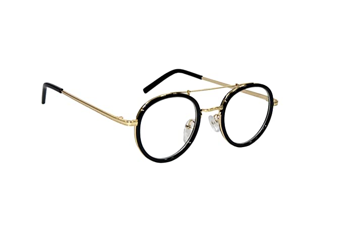 643bbc0c9 Peter Jones Round Unisex Spectacle Frame - BO1|Gold and Black ...