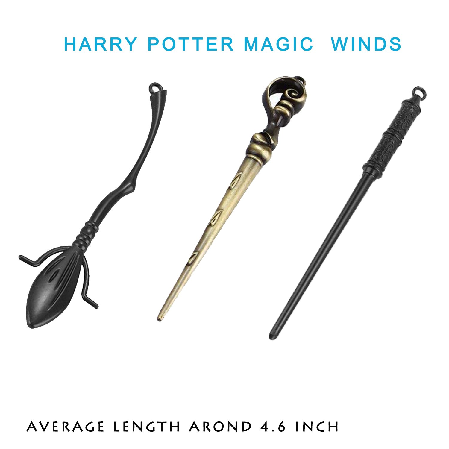 13 Styles Creative Cosplay Harry Potter Series Magic Wands New with Metal Core Magical Wands with Keychain Necklace for Kids by Harmoos (Image #3)