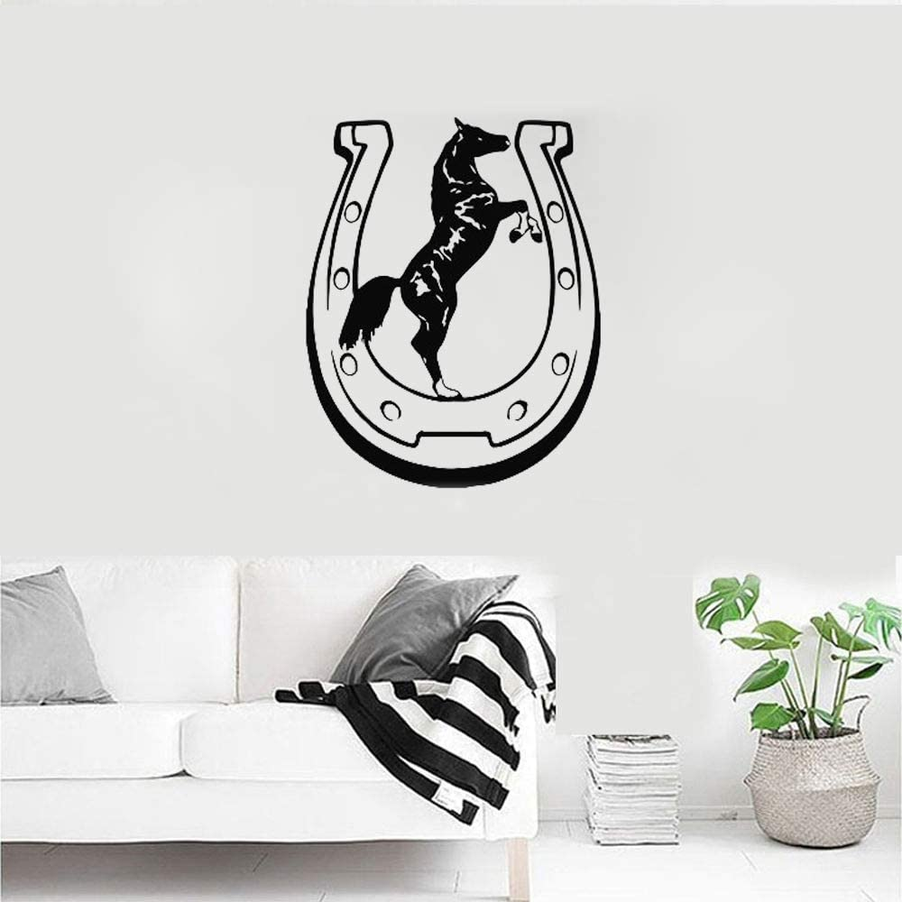 Patrón de herradura suerte Animal caballo vaquero Sala de estar pegatina de pared frases