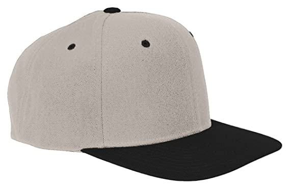 669a826faab Flexfit Yupoong Men s Wholesale Wool Blend Flat Bill Blank Snapback Hats  20597 One Size Natural Black  Amazon.co.uk  Kitchen   Home