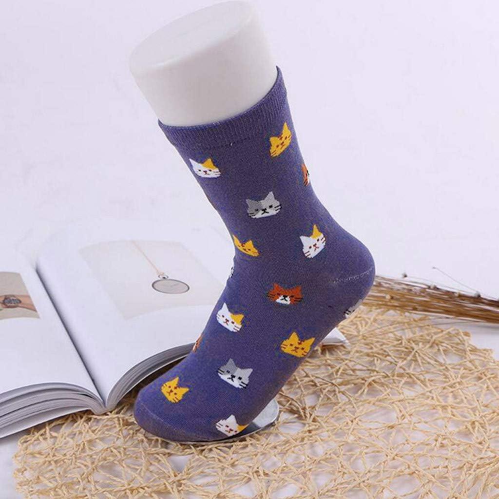 Womens Funny Socks Cute Animal Socks Cat Fun Cotton Casual Socks Soft /& Stretchy Novelty Crew Socks