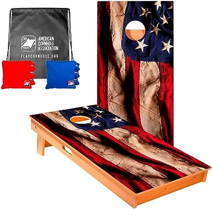 8 ACA Regulation Cornhole Bags 4 Glitter Fireworks and 4 USA Flags
