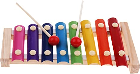 Xilófono de Madera Juguetes Musical Juguetes de Primera Infancia Juegos de Mesa: Amazon.es: Bebé