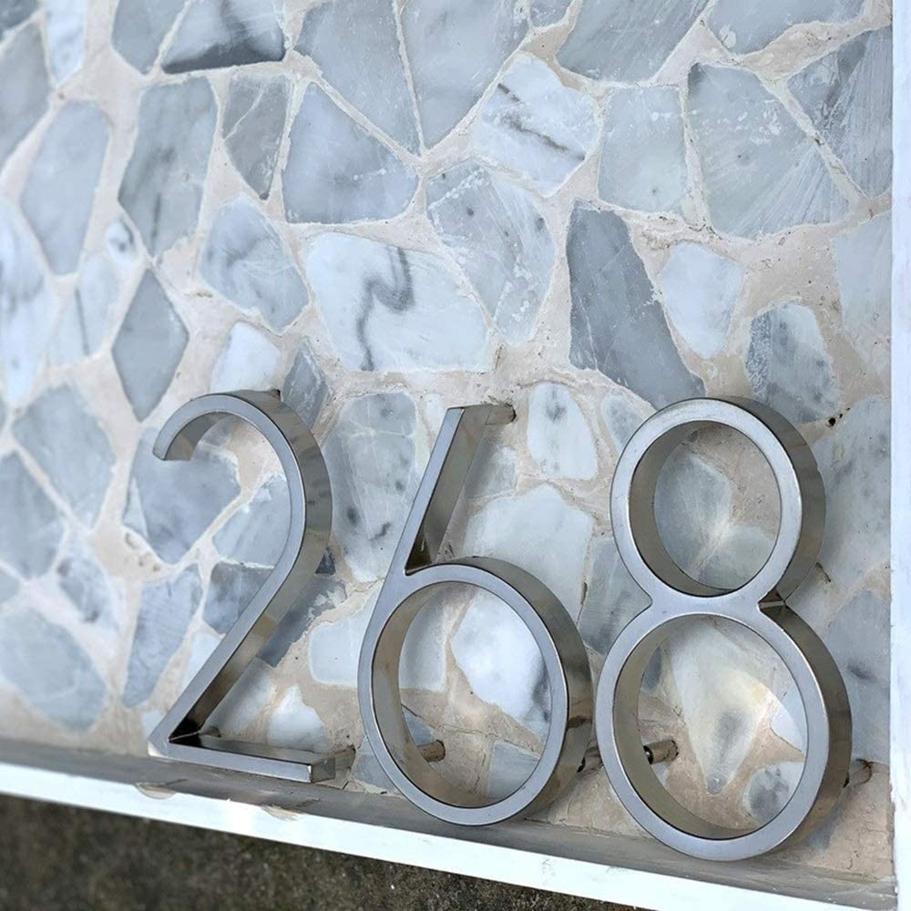 Modern House Number House Address House Number House Number Door Outdoor Sign 5 Inches Digital House Number Color : 7