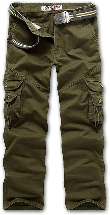 Pantalones De Carga para Hombres Largos Pantalones Pantalones ...