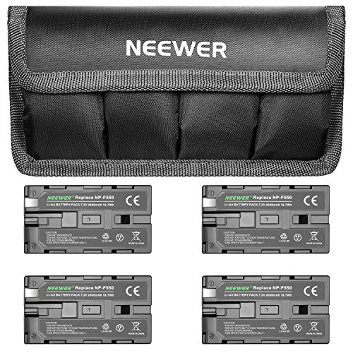 Neewer 7.4V 2600mAh Replacement Li-ion Battery 4 Packs with