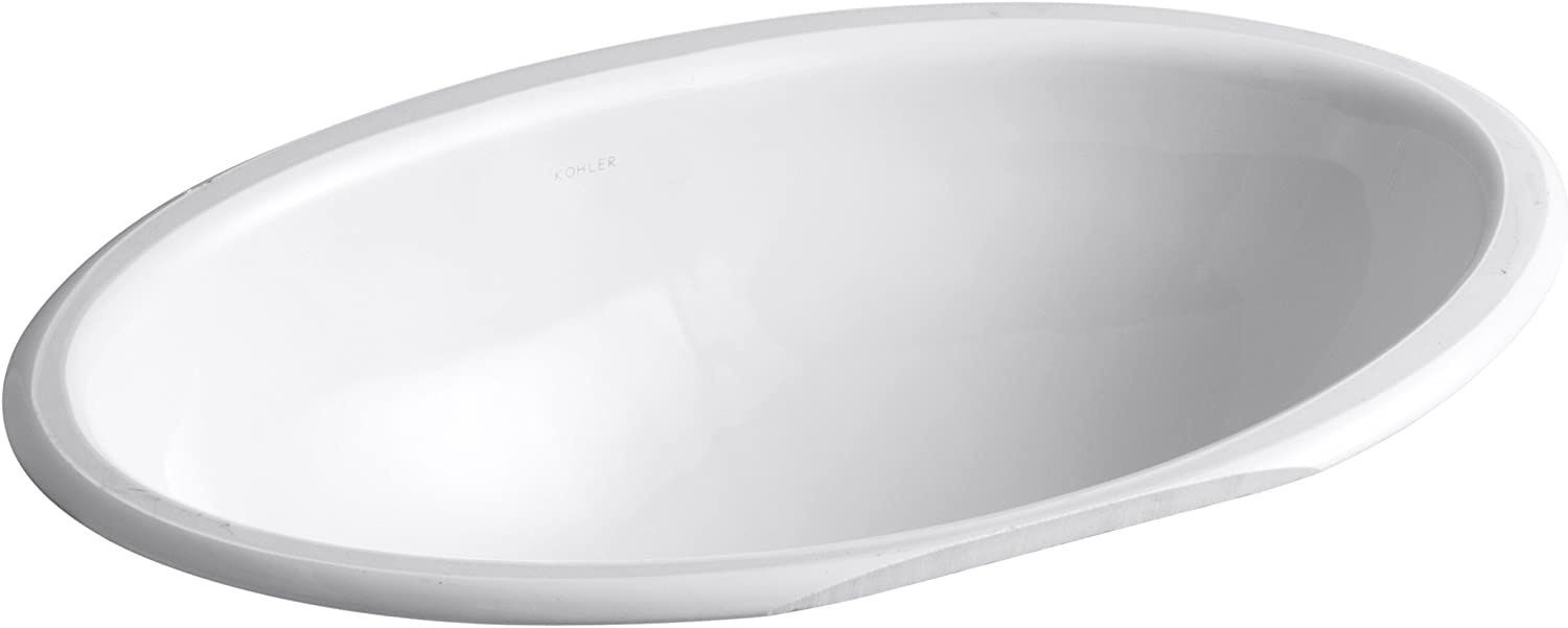 Kohler 2240-0 Ceramic undermount Oval Bathroom Sink, 27 x 20.5 x 10.75 inches, White