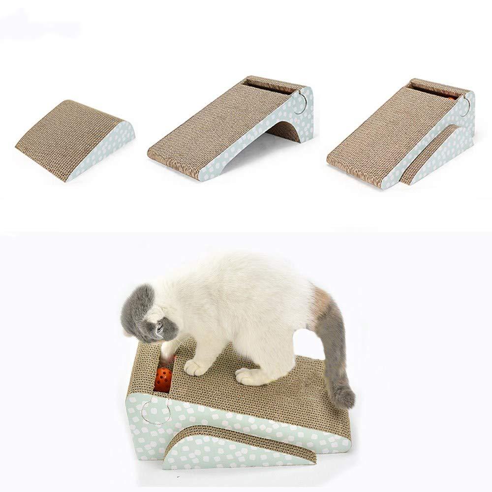 meleg otthon Cat Scratcher Cardboard,Cat Scratch Pad with Ball Catnip 2-in-1 Strong Cat Scratch Lounge Refill by meleg otthon