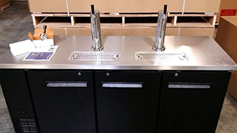 "72 ""Back Bar Kegerator doble dispensador de cerveza refrigerador enfriador de acero inoxidable de"