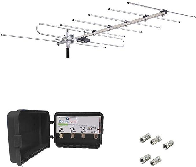 Kit adeguamento Antena Digital Terrestre TV HD VHF BIII Rai 7 ...