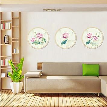 Hermosas flores de loto pegatinas de pared decoración para el ...
