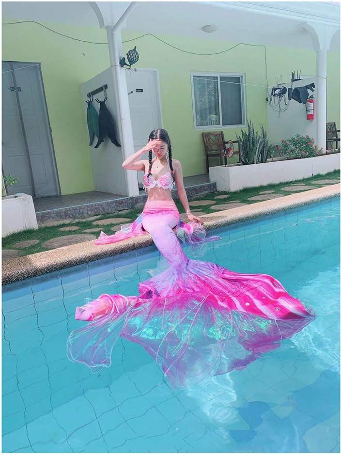 RKRGQ Traje De Bano Sirena para Niñas con Bikini Traje De Bano Princesa Conjunto con Cola De Sirena Adecuado para Piscina O Fiesta En La Playa(Color:Estilo-C)
