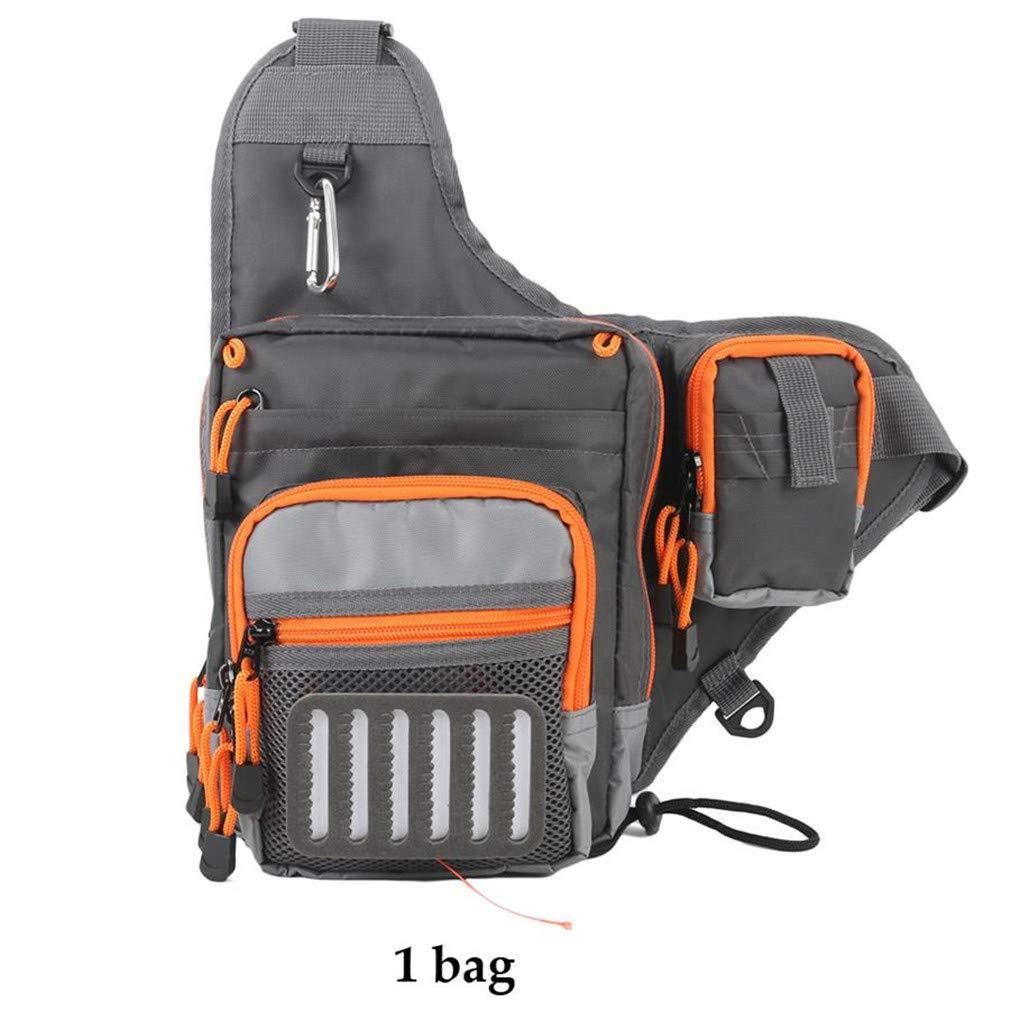 Purpume 23218.5 cm Freshwater Fishing Lure Tackle Bag Pack Backpack Crossbody Sling Bag 1 Bag