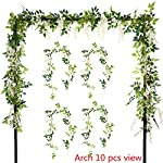 Felice-Arts-2-Pcs-Artificial-Flowers-66ftPiece-Silk-Wisteria-Ivy-Vine-Green-Leaf-Hanging-Vine-Garland-for-Wedding-Party-Home-Garden-Wall-Decoration