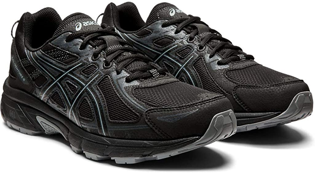 Asics Men s Gel-Venture 6 Running Shoes, 10.5M, Black Black