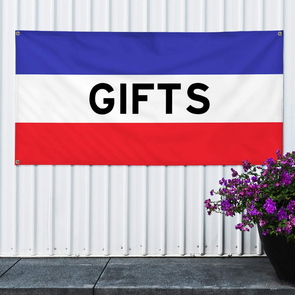 Multiple Sizes Available One Banner Vinyl Banner Sign Gifts #1 Holidays and Occasions Marketing Advertising White//Red 44inx110in 8 Grommets