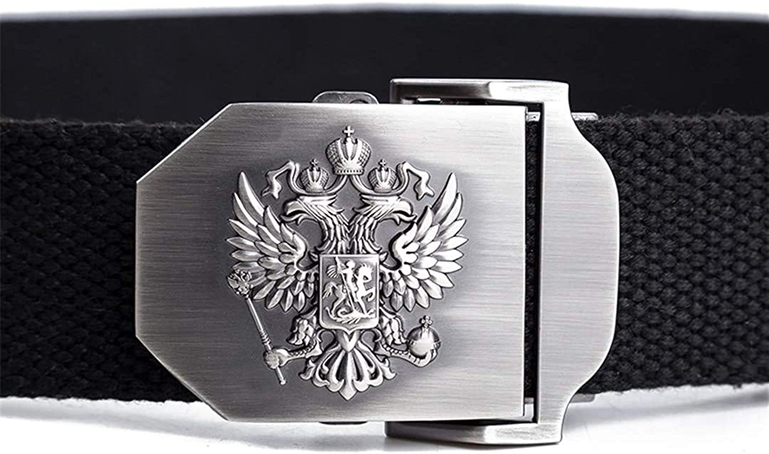 JUIHUGN Unisex Russian National Emblem Canvas Tactical Belt Military Belts for Mens /& Women Luxury Patriot Jeans Belt Light Gray 110cm
