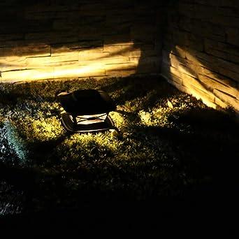 Tefamore Lámpara Solar para Jardín Luz Solar para Exteriores Luz Decoración Jardín Luz para Poste Madera Jardín (Amarillo): Amazon.es: Iluminación
