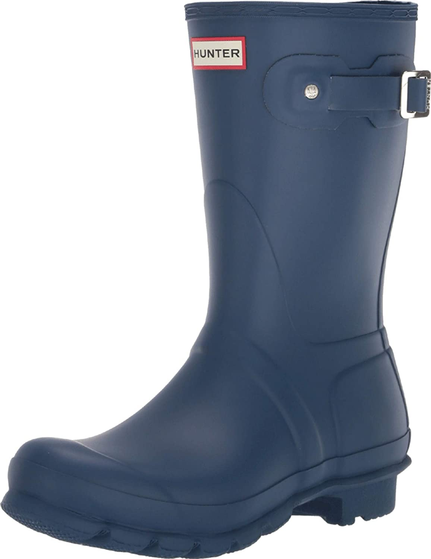 Buy Hunter Short Rain Boots Peak Blue 9