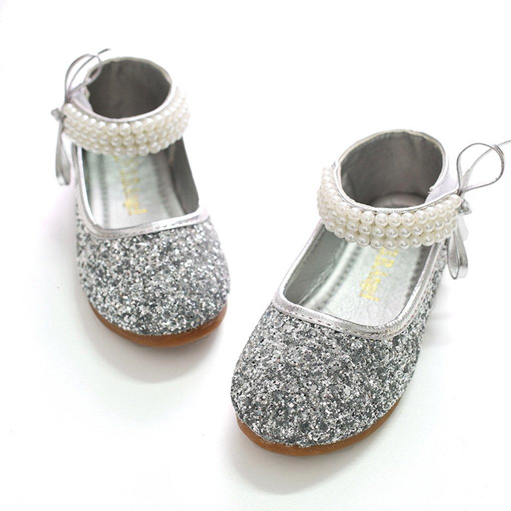 Shiny Toddler Little//Big Girls Sequins Princess Mary Jane Flats