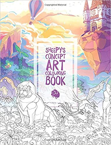 amazoncom mrsuicidesheeps concept art colouring book 9781775071709 sheepy caring wong david noren books - Colouring Books