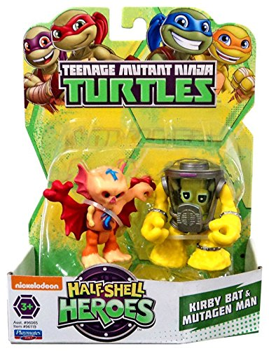 Teenage Mutant Ninja Turtles Pre-Cool Half Shell Heroes Kirby Bat and Mutagen Man Figures
