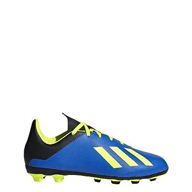 reputable site 0e8cd 9b018 adidas X 18.4 FxG J Soccer Shoe, Football Blue Solar Yellow core Black