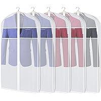 KEEGH Garder Housses de vêtements, Sac de Rangement, Protection Anti-Mites, Pliable, Lavable, léger, pour Robe Longue, Costume, Robe et Manteau