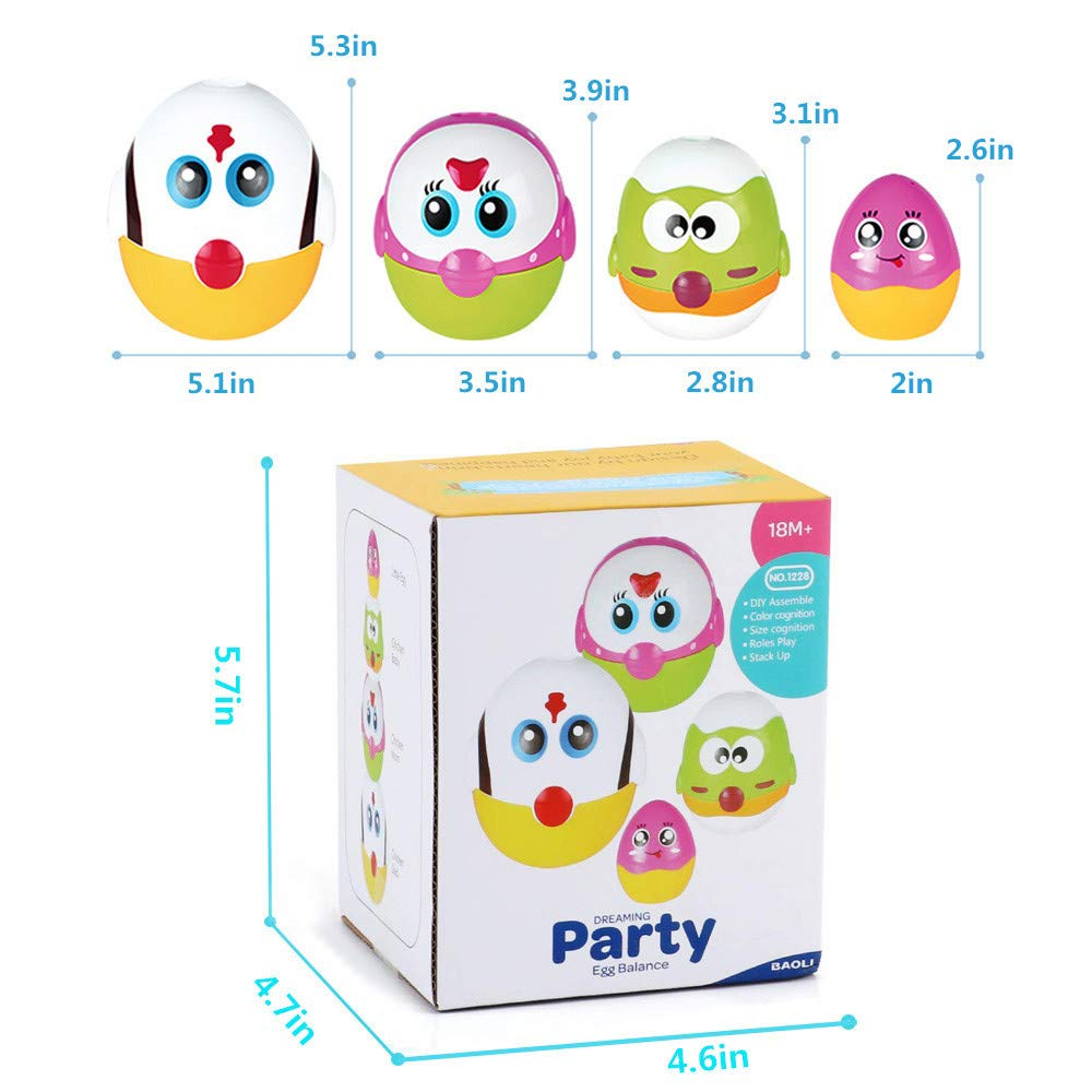LUKAT Plastic Easter Eggs, Baby Toddler Easter Gifts, Stacking Toys and Nesting Playset Toy for Kids Boys Girls by LUKAT (Image #7)