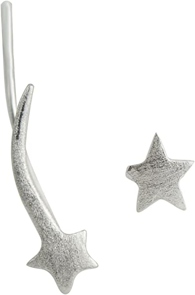 PAIRE de BOUCLES d/'OREILLES étoile en ARGENT massif