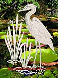 oval window treatments - Egret & Cattails Right Oval Etched Window Decal Vinyl Glass Cling - 15