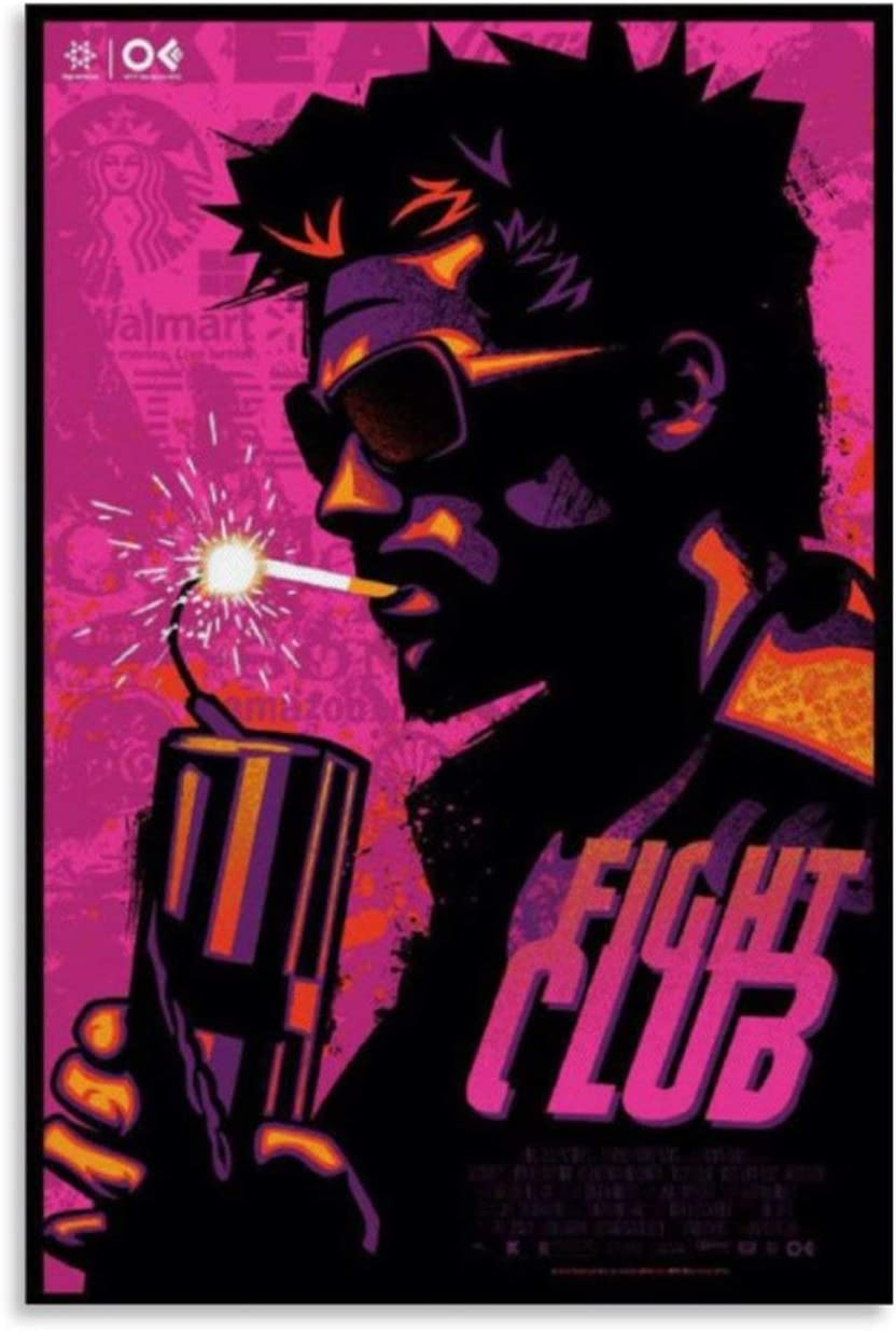 Fight Club Poster Art Poster Canvas Art Poster and Wall Art Picture Print Modern Family Bedroom Decor Posters 24x36inch(60x90cm)