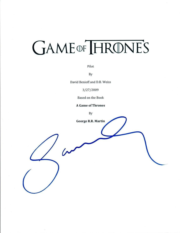 Sophie Turner Signed Autographed Game of Thrones Full Pilot Episode Script AB Unbranded