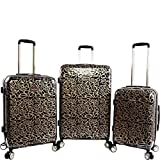 BeBe Women's Annabelle 3 Piece Set Suitcase with Spinner Wheels, Black/Gold Review