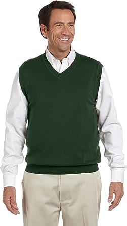 Devon \u0026 Jones Classic Men\u0027s V,Neck Sweater Vest. D477 , XX,Large , Forest  Green