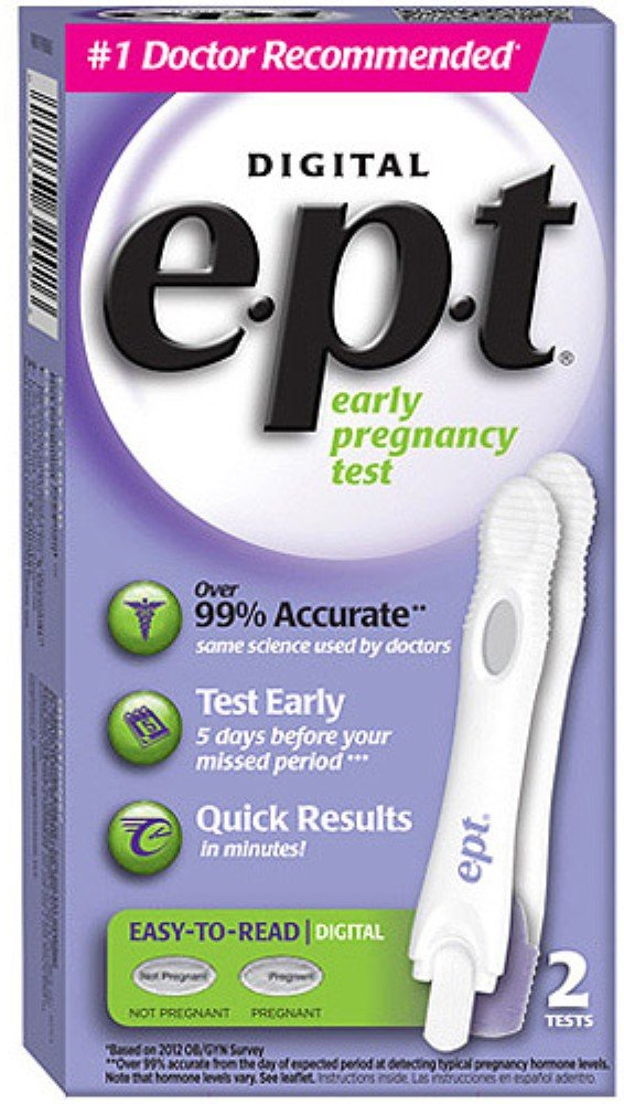 e.p.t. Digital Early Pregnancy Tests 2 Each (Pack of 11)