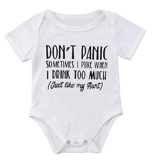 4ba8a514b Amazon.com  Qiylii Newborn Baby Boys Girls Aunt Funny Letters Print ...