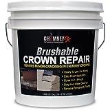 CHIMNEYRX Brushable Chimney Crown Repair, 1 Gallon