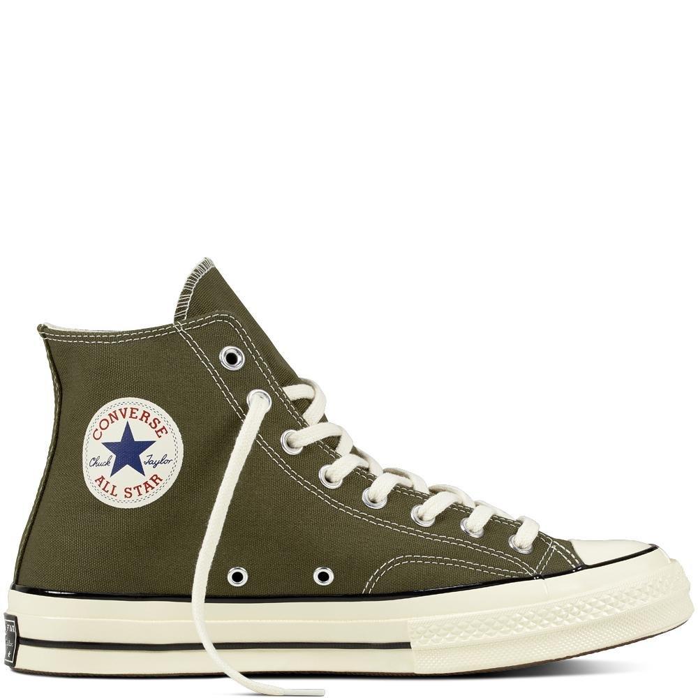 Converse Chuck Taylor CTAS 70 Hi Canvas, Zapatillas de Deporte Unisex Adulto 44 EU|Verde (Herbal/Black/Egret 342)
