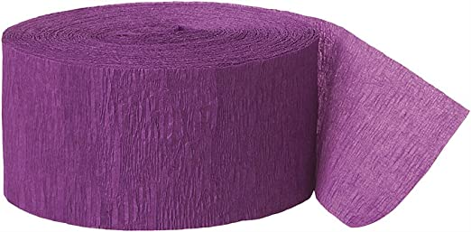 81 12 Ct. Party Decor Amscan Party Crepe Streamer New Purple