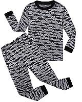 Family Feeling Shark Little Boys Pajamas Sets 100% Cotton Pjs Toddler Kids